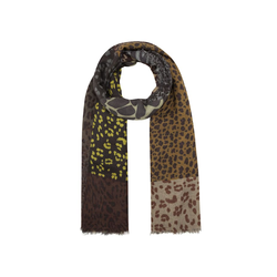 Leo-Schal aus Wolle und Modal Codello brown