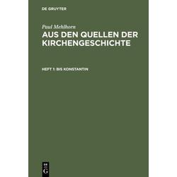 Bis Konstantin als Buch von Paul Mehlhorn