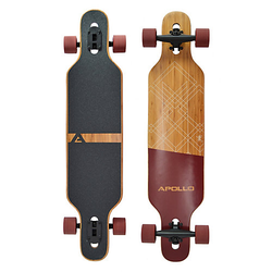Twin Tip DT Longboard Bali - Bamboo rot/braun