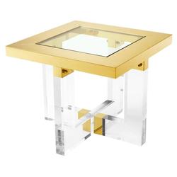 Casa Padrino Wohnzimmer Beistelltisch Gold 60 x 60 x H. 50 cm - Luxus Möbel