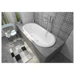 HAK Badewanne ASTRA ovale Badewanne mit Wannenfüßen, 165x75x48 cm weiß