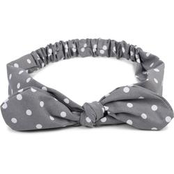 styleBREAKER Haarband Haarband mit Punkte Muster und Schleife, 1-tlg., Haarband mit Punkte Muster und Schleife grau