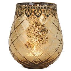 matches21 HOME & HOBBY Kerzenständer Teelichtglas orientalisch Orient Windlicht antik 18 cm