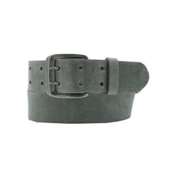 AnnaMatoni Ledergürtel Mit Doppeldorn-Schließe im Vintage-Look grau 100