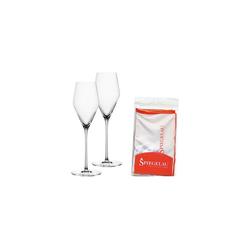 SPIEGELAU Champagnerglas Definition Champagnerglas 2er Set mit Poliertuch, Glas