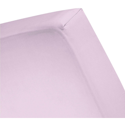 Spannbettlaken Renforcé, damai, für Topper lila 160 cm x 200 cm