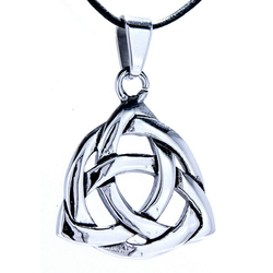 Kiss of Leather Kettenanhänger Keltischerknoten Knoten Kelten Keltik Keltisch Anhänger Celtic Edelstahl