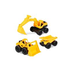 relaxdays Spielzeug-Bagger Spielzeug Baustellenfahrzeuge 3er Set