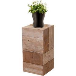 Blumentisch MCW-A15, Blumensäule Blumenständer, Tanne Holz rustikal massiv ~ 60cm