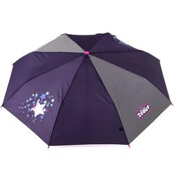 Scout Taschenregenschirm, mit Reflektorband lila