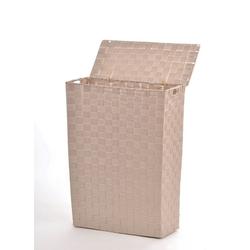 animal-design Wäschekorb, NISCHEN-WÄSCHEKORB Wäschekorb ca. 48 Liter Stoff geflochten Wäschesammler Korb Wäschesortierer 43 cm x 58 cm x 21 cm
