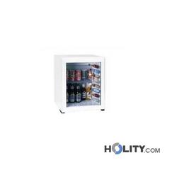 Weisse Minibar für Hotelzimmer mit Glastür h43836