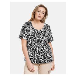Blusenshirt im Zebra-Design Samoon Black gemustert