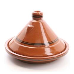 Casa Moro Schmortopf Marokkanische Tajine Terra Miel glasierter Tontopf, handgetöpfert aus Marrakesch, Ton, (2-tlg), Made in Marokko braun Ø 30 cm