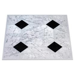 Vinylfliesen Vinyl-Fliesen, 1,2 mm, 45 Fliesen, selbstklebend weiß
