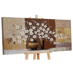 YS-Art Gemälde Topf mit Blumen IV 185