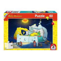 Schmidt Spiele Puzzle Molly Monster bekommt ein Geschwisterchen 60 Teile, 60 Puzzleteile