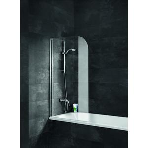 Schulte Komfort Badewannenpendeltür 1-teilig Klar hell Alunatur 800mm - D1650 01 50 Links