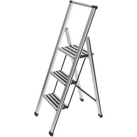 WENKO Alu-Design Klapptrittleiter 3 Stufen
