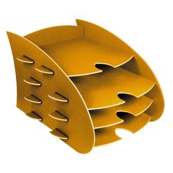 WERKHAUS® Briefablage Werkhaus - Aero Ablage Gelb 4 Fächer DIN A4 Briefablage Briefkorb Ablagekorb