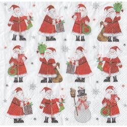 stewo Papierserviette Santa''s Christmas Time, (5 St), 33 cm x 33 cm