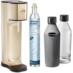 My Sodapop Wassersprudler Joy Prestige Champagner inkl. 2 Glasflaschen, und 1 CO2-Zylinder