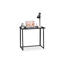 relaxdays Schreibtisch Schreibtisch klappbar schwarz