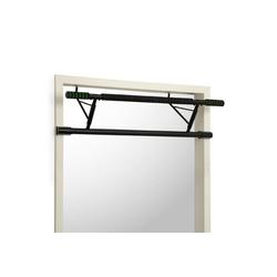 KLARFIT Klimmzugstange In-Door Klimmzugstange Türrahmenaufhängung 130kg EVA-Pads Stahl schwarz
