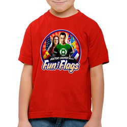 style3 Print-Shirt Kinder T-Shirt Fun wih Flags sheldon flagge fahne banner amy rot 116