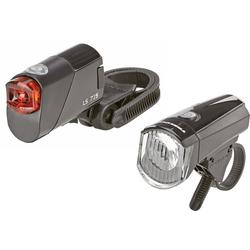 Prophete Fahrradbeleuchtung LED-Batterieleuchten-Set 15 Lux schwarz