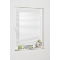 Plissee COMO, K-HOME, Lichtschutz, freihängend weiß 70 cm x 130 cm
