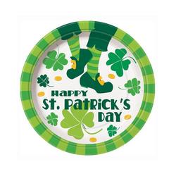 Horror-Shop Einweggeschirr-Set Happy St. Patrick's Day Teller, Pappe grün
