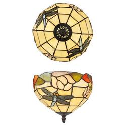 Casa Padrino Tiffany Deckenleuchte 25cm Libelle - Glas Mosaik Decken Lampe Leuchte
