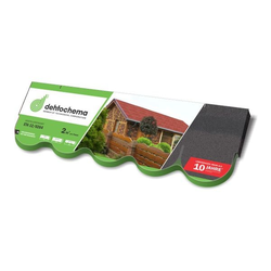 Dachschindeln Biberschindeln schwarz 2m² Schindeln Dach