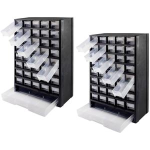 2er Set Kleinteile Sortierkasten / Kleinteilemagazin 41 Fächer