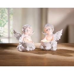HomeLiving Kerzenhalter Engel