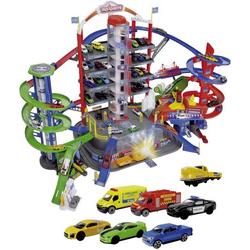 Parkhaus-Spielwelt Super City Garage mit sechs Die-Cast-Spielzeugautos