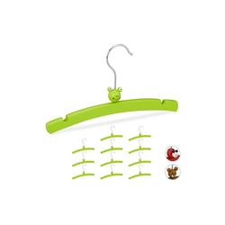 relaxdays Kleiderbügel 12 Kleiderbügel für Kinder mit Tierfigur