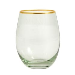 Nordal Greena Wasserglas mit goldenen Details