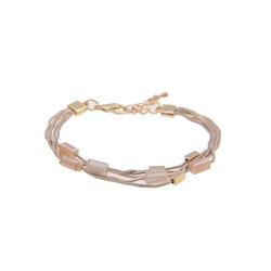 leslii Armband Glassteine in Gold Beige, 260117020, mit Glassteinen