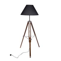 BIRENDY Stehlampe Riesige XXL Stativlampe Stehlampe im Dreibein Stativ Look F705 schwarz Schirm