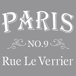 Rayher Dekor-Schablone Rue Le Verrier grau