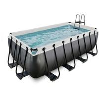 EXIT TOYS EXIT Black Leather Pool mit Filterpumpe - schwarz