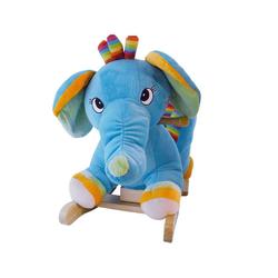 BIECO Schaukelpferd Bieco Plüsch Schaukeltier Elefant Kinder Schaukelstuhl mit Sicherheitsgurt Baby Schaukel Schaukel Kleinkind Schaukeltier Baby Zimmer Baby Schaukelwippe ab 9 Monate Schaukelpferd Holz