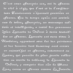 Rayher Dekor-Schablone franz. Schrift grau