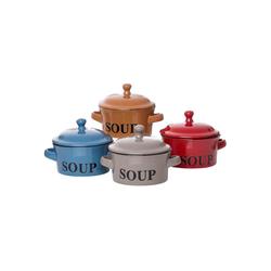 Ritzenhoff & Breker Suppenteller REGINA Suppentassen mit Deckel 460 ml 4er Set