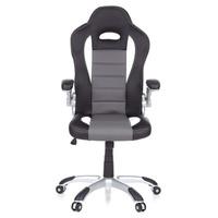 HJH Office Racer Sport schwarz / weiß / grau