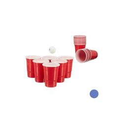 relaxdays Spiel, Beer Pong Becher 50er Set rot