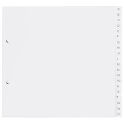 5 dots Ordnerregister   DIN A4 Halbformat, Überbreite A-Z weiß 20-teilig
