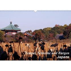 Tempel Schreine und Burgen Japans (Wandkalender 2021 DIN A3 quer)